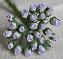 4mm LIGHT LILAC ROSE BUDS Mulberry Paper Flowers